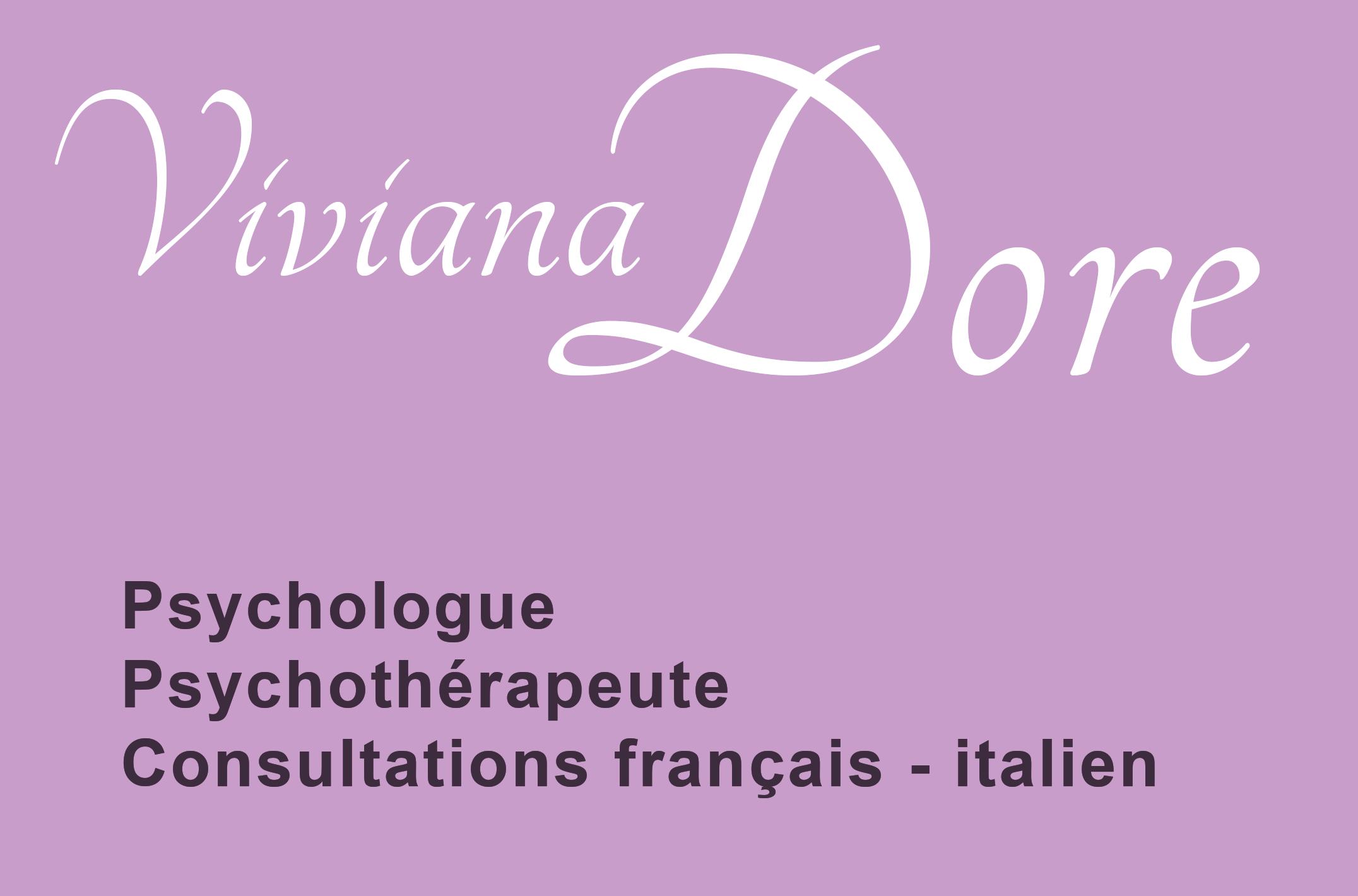 Viviana Dore Psychologue Paris 9 et Marseille 5 Consultations en français et en italien